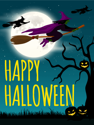 Midnight Halloween Cards. Midnight Halloween Cards Put a spell on ...
