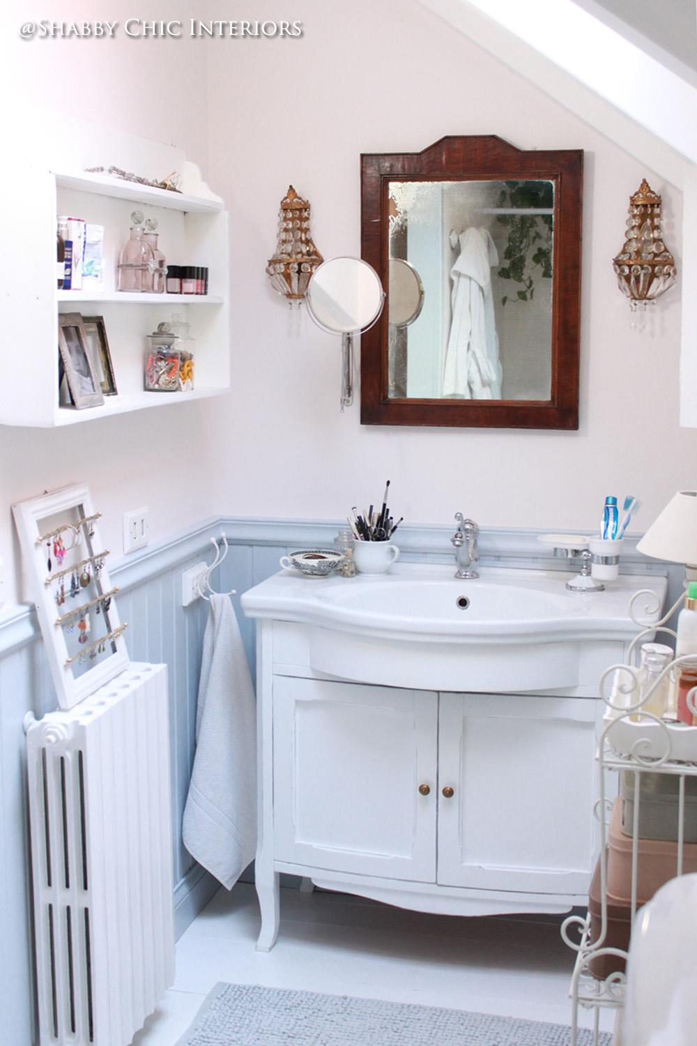 Shabby Chic Interiors: My Home | Bathroom | Pinterest | Bagno, Bagni ...