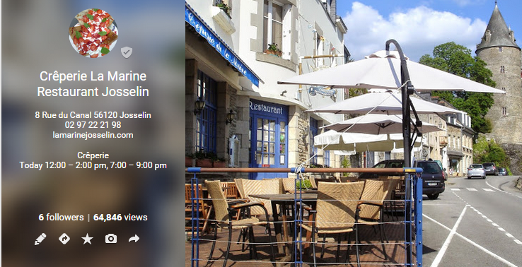Great Google + Cover Photo from Creperie La Marine in Josselin, France / Jolie couverture Google + de Creperie La Marine à Josselin, France https://plus.google.com/u/1/b/102910075800907064301/+cr%C3%AAperierestaurantLaMarineJosselin/posts