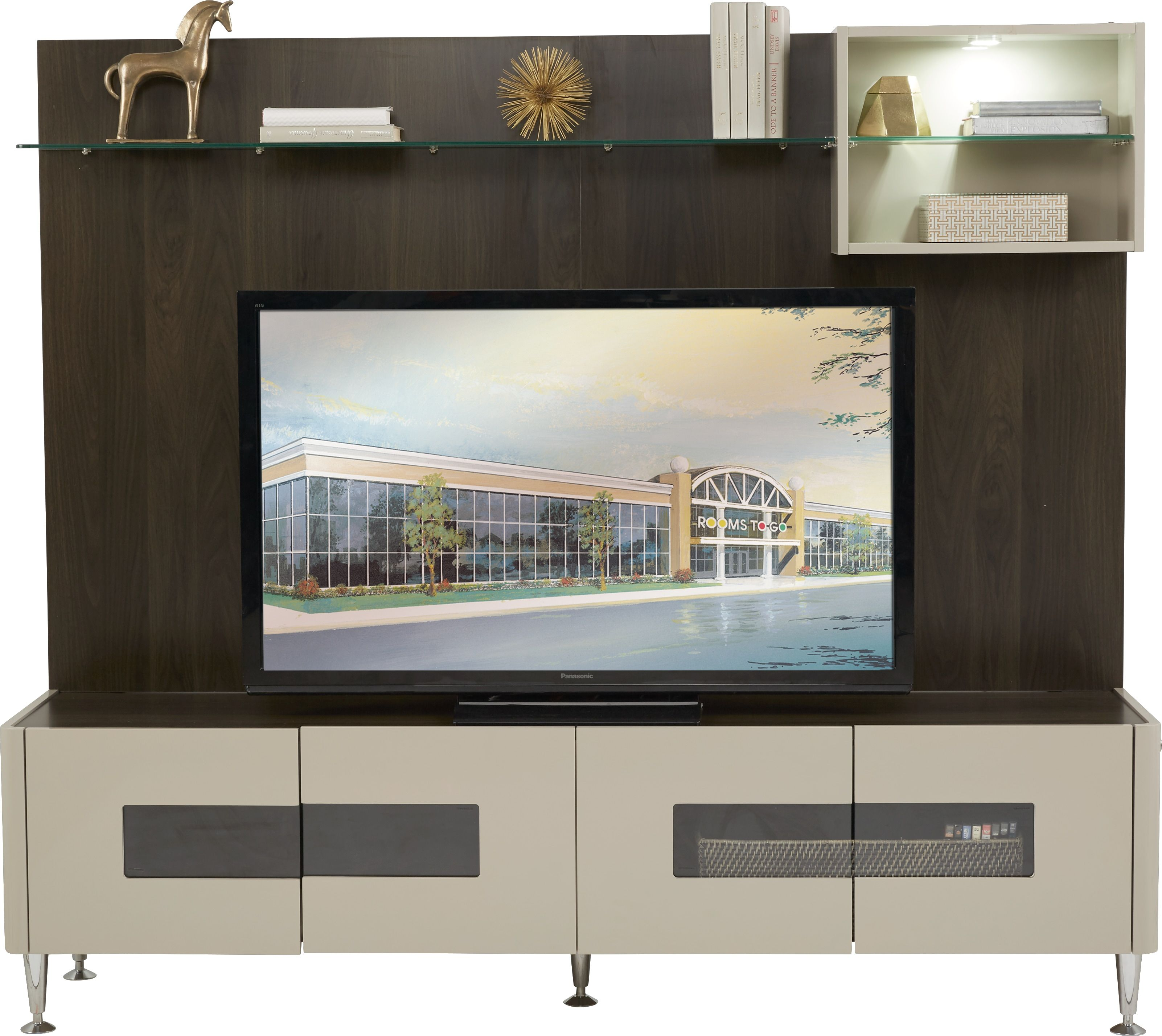 Montpelle Gray 4 Pc Wall Unit Wall Unit Home Rooms To Go