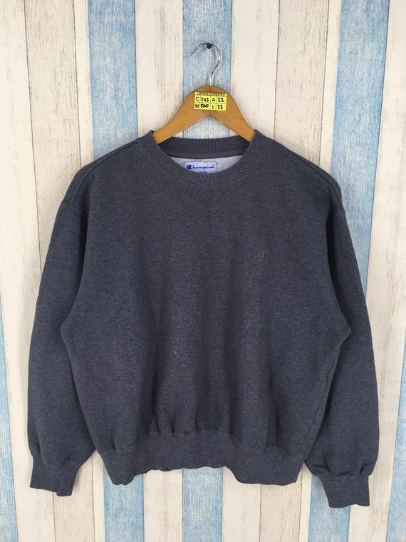 CHAMPION Sweatshirt Unisex Large Gray Vintage 90's