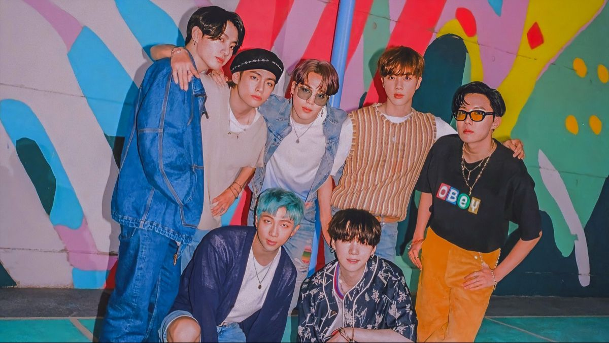 Bts Dynamite Group Photo Teaser 1 Desktop Wallpaper Hd Di 2020 Pengikut Seventeen Pacar Pria