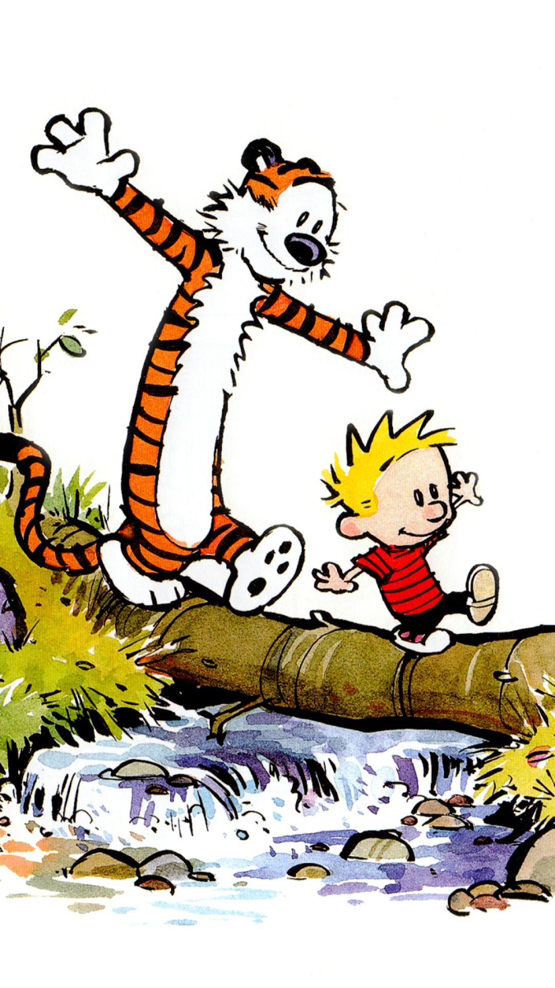 Calvin And Hobbes Samsung S4 wallpaper