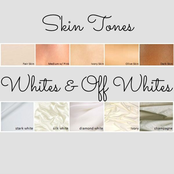 Skin tones and wedding white guide so super helpful for Wedding dress shades of white