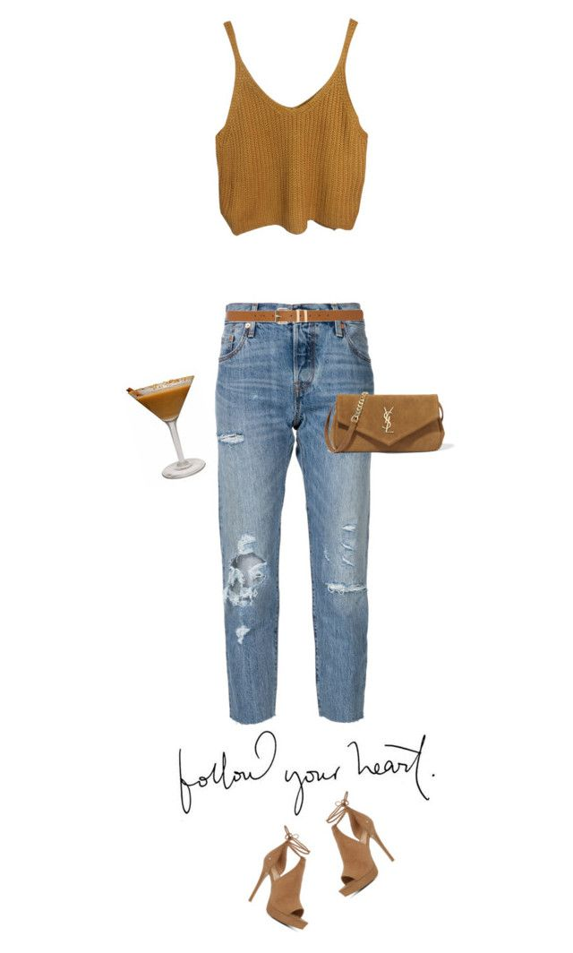 """ALWAYS"" by mimas-style ❤ liked on Polyvore featuring Levi's, ALDO, Yves Saint Laurent and M&Co"