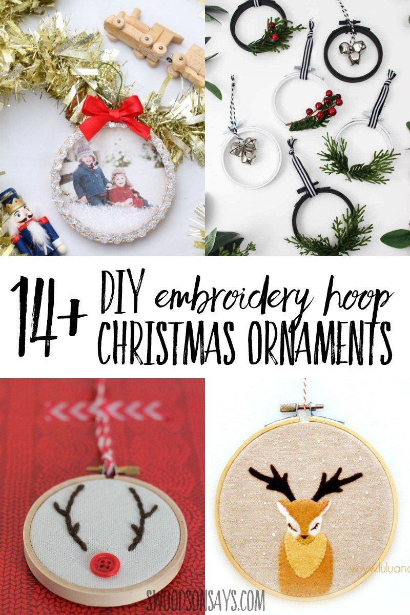 14 Tutorials For Embroidery Hoop Christmas Ornaments Holiday Crafts Christmas Kids Christmas Ornaments Christmas Sewing Projects
