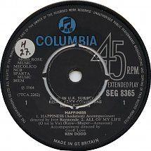 45cat - Ken Dodd - Happiness - Columbia - UK