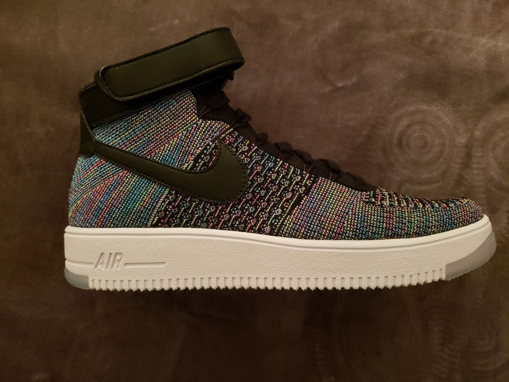 newest 12f25 123e4 Men s Nike AF1 Air Force 1 Ultra Flyknit Mid Multi Color 817420-601 Mens 11