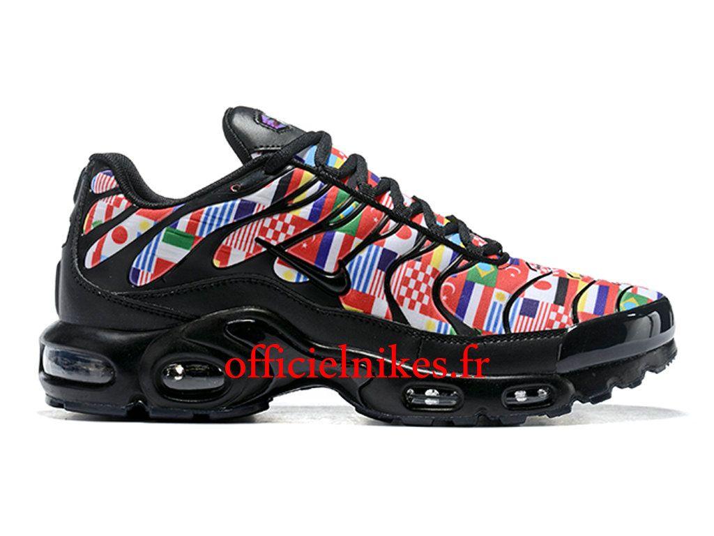finest selection f1f98 6df0e Nike Air Max Plus NIC QS Multi Noires AO5177-100 Chaussures Officiel Nike  2018 Pas