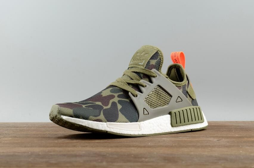 eb78320a46fe9 Authentic Adidas Originals NMD XR1 PK Green Camouflage Real Boost BA7232  Sport Shoes  36-44