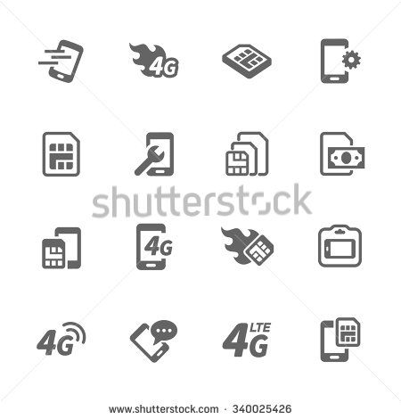 Simple Set Of Sim Cards Related Vector Icons Contains Such Icons