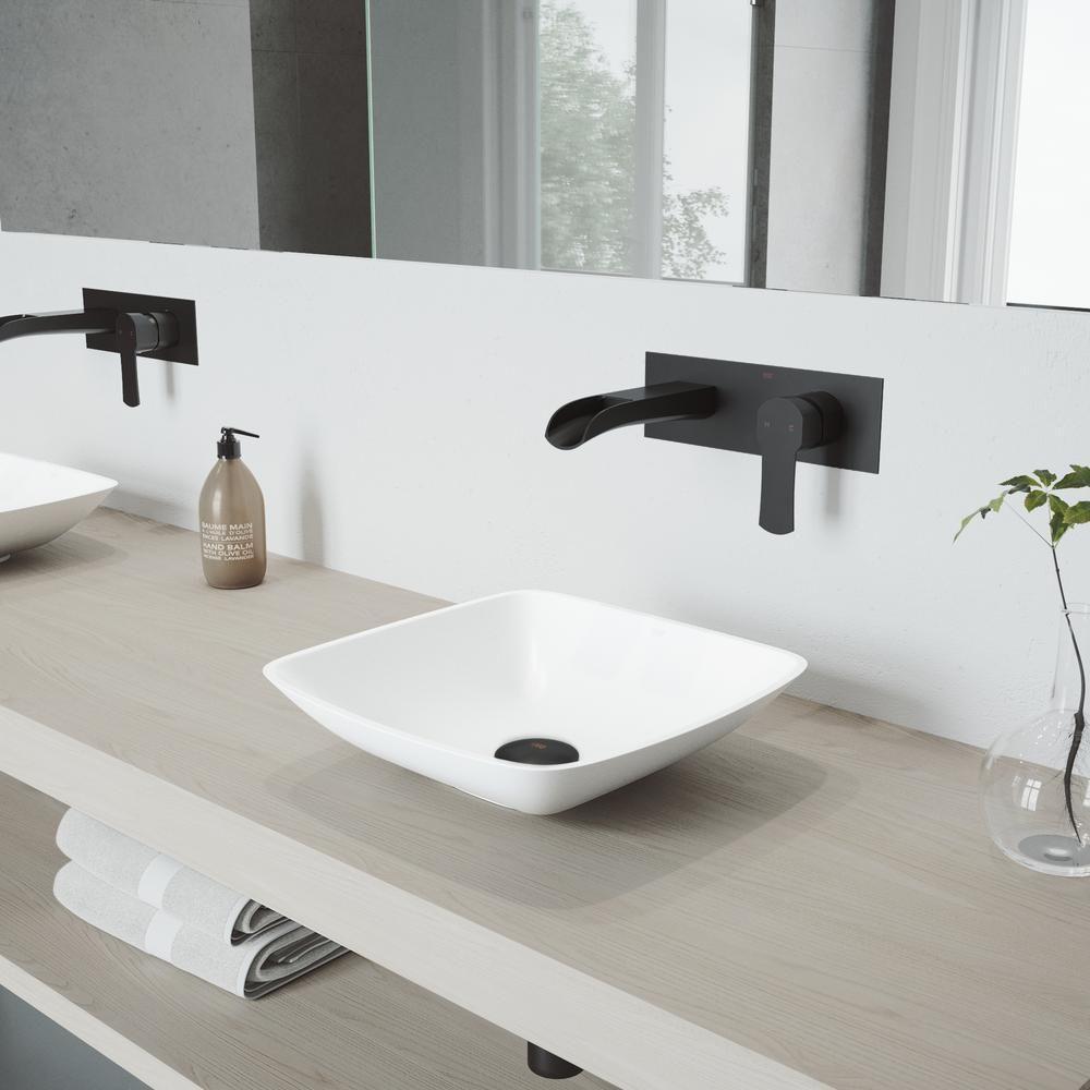 Vigo Hyacinth Matte Stone Vessel Bathroom Sink Set With Cornelius Wall Mount Bathroom Faucet In Wall Mount Faucet Bathroom Stone Bathroom Sink Bathroom Faucets [ 1000 x 1000 Pixel ]