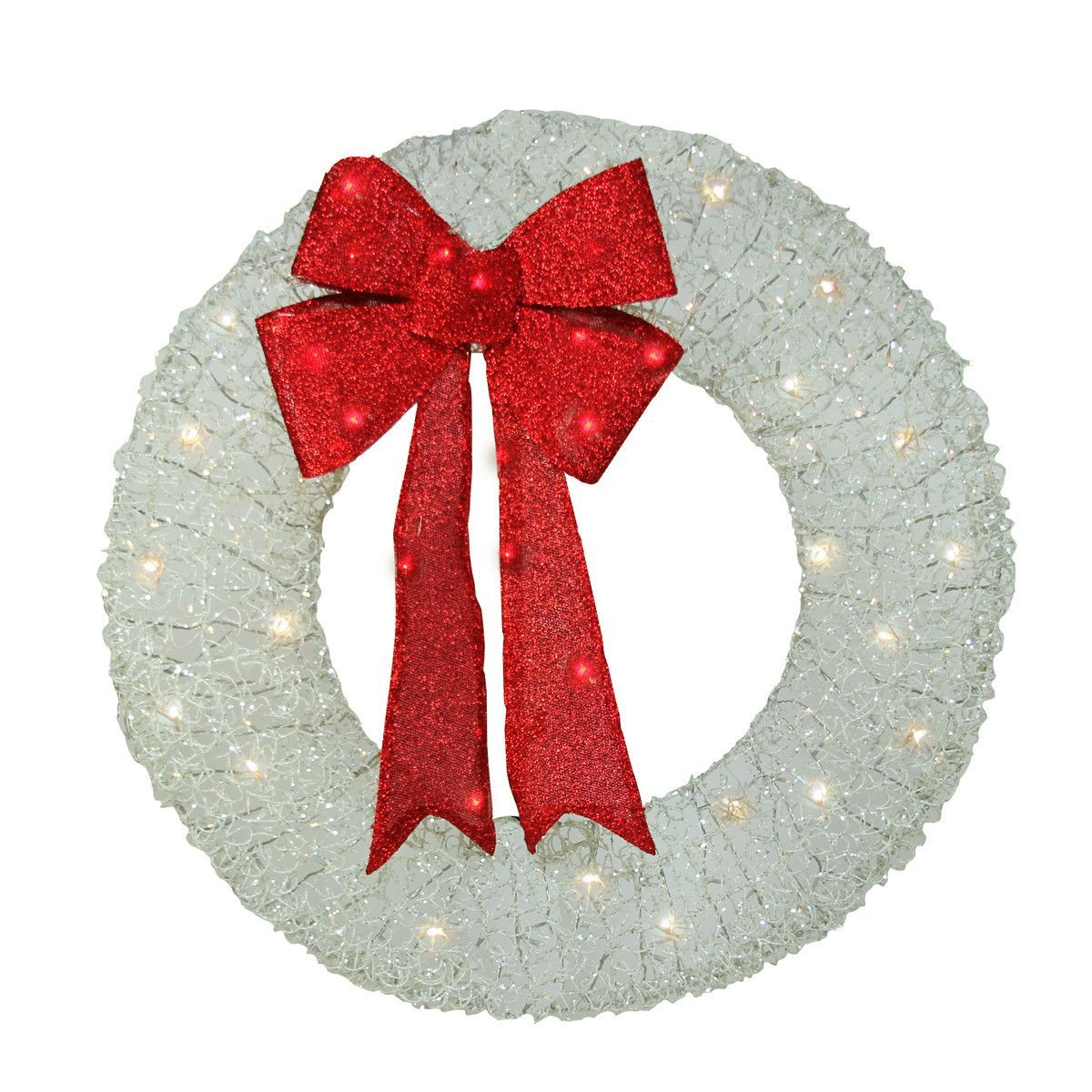36 lighted christmas wreath products pinterest products pre lit white and red outdoor christmas wreath warm white led lights mozeypictures Images