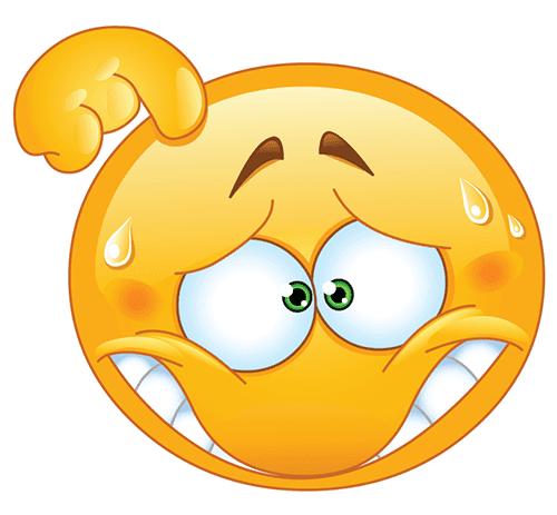 Embarrassed Smiley Funny Emoji Funny Emoji Faces Funny Emoticons