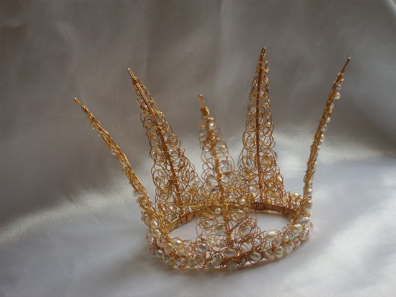 Diadem Hochzeit Swarovski Halbe Krone Tiara Braut Tiara Braut