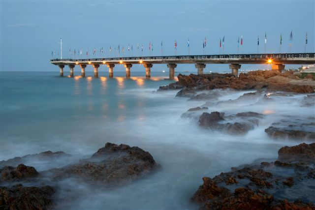 One of the most prominent features in Port Elizabeth- Shark Rock Pier.  @holidayaccess #PE #southafrica #travel