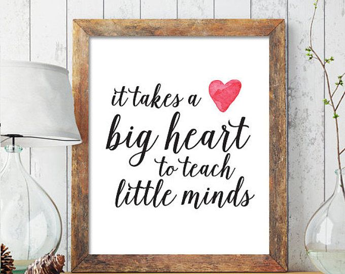 Personalized Teacher Gift, Teacher Gift Printable, It takes a big