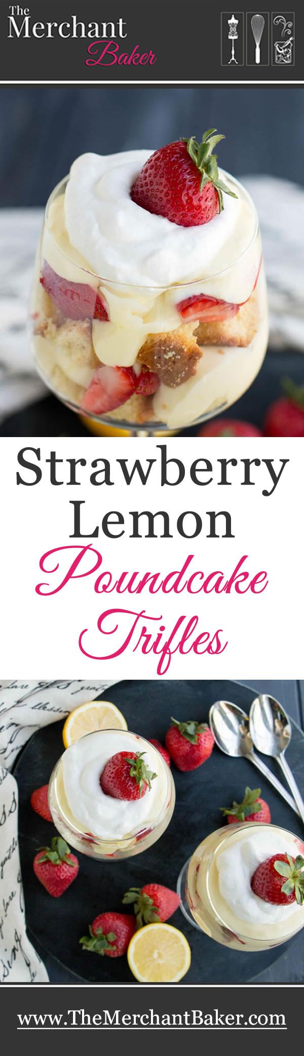 Strawberry Lemon Pound Cake Trifles | Recipe | Pound cake ...