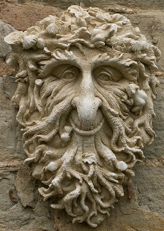 Pin By Ian Wilson On Clay Green Man Art Garden Ornaments