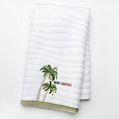 St Nicholas Square Palm Tree Hand Towel 9 49 Coastal