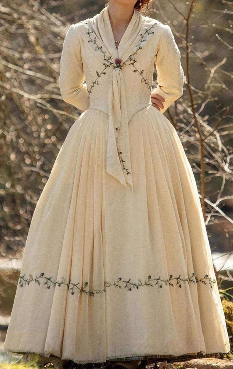 Photo of PLUS SIZE Bree season 5 Outlander Wedding Bridal, 18th Century Dress Replica Cosplay Costume Rococo