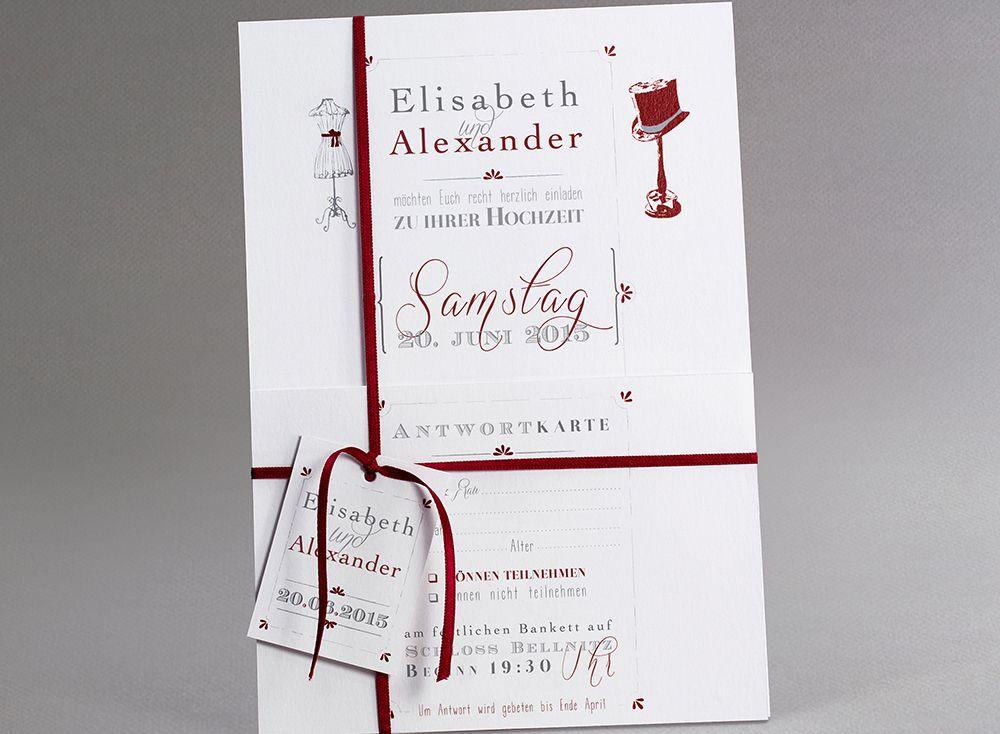 Letterpress #Hochzeitskarten #kreativehochzeitskarten #einladungskarten  Floppy Necktie M20 004 B 3
