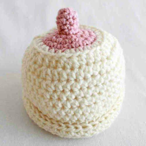 Crocheted Babys Nursing Beanie Free Pattern Best Free Crochet