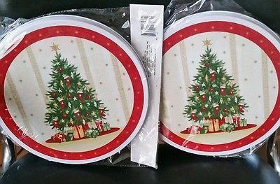 4 PC CHRISTMAS NEW NIP STOVE BURNER COVER SET STOVE CHRISTMAS TREES