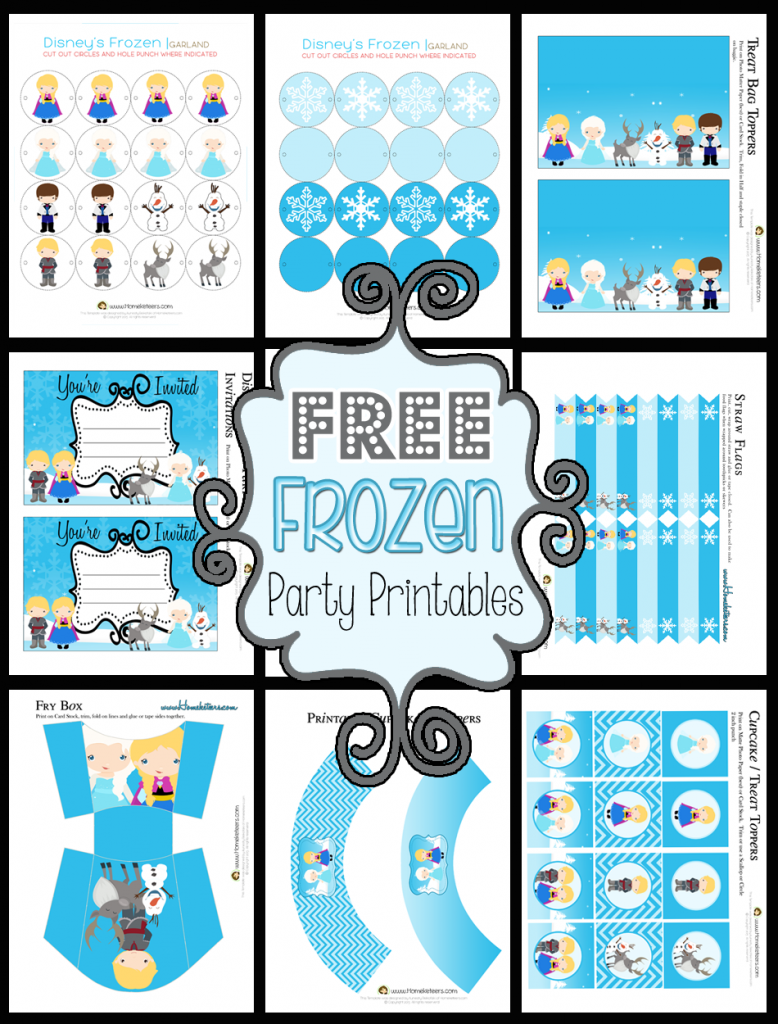 Free Frozen Party Printables (these would be fun to use the ...