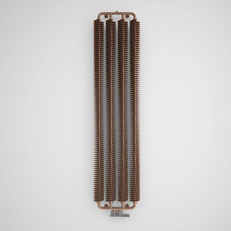 Leather jacket killer b&q - Terma Ribbon Vertical Radiator Copper Powder Coated Satin H 1720 Mm W 390 Mm