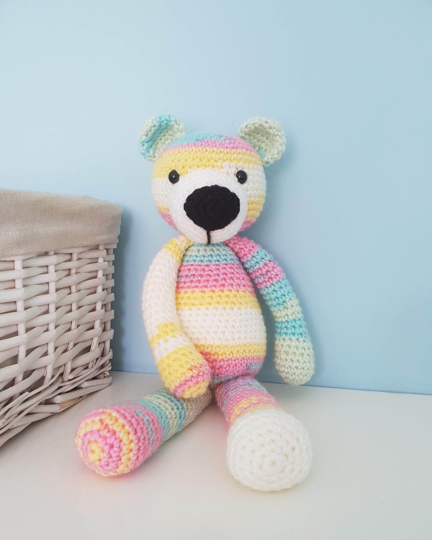 Crochet Teddy Bear by Szydelkowyzwierzak