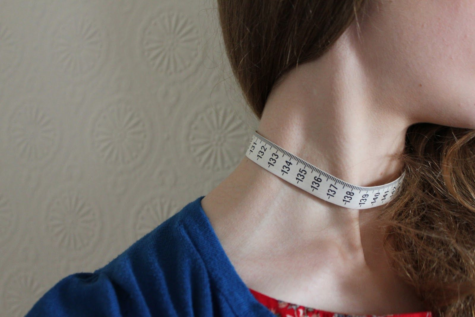 DIY tape measure necklace