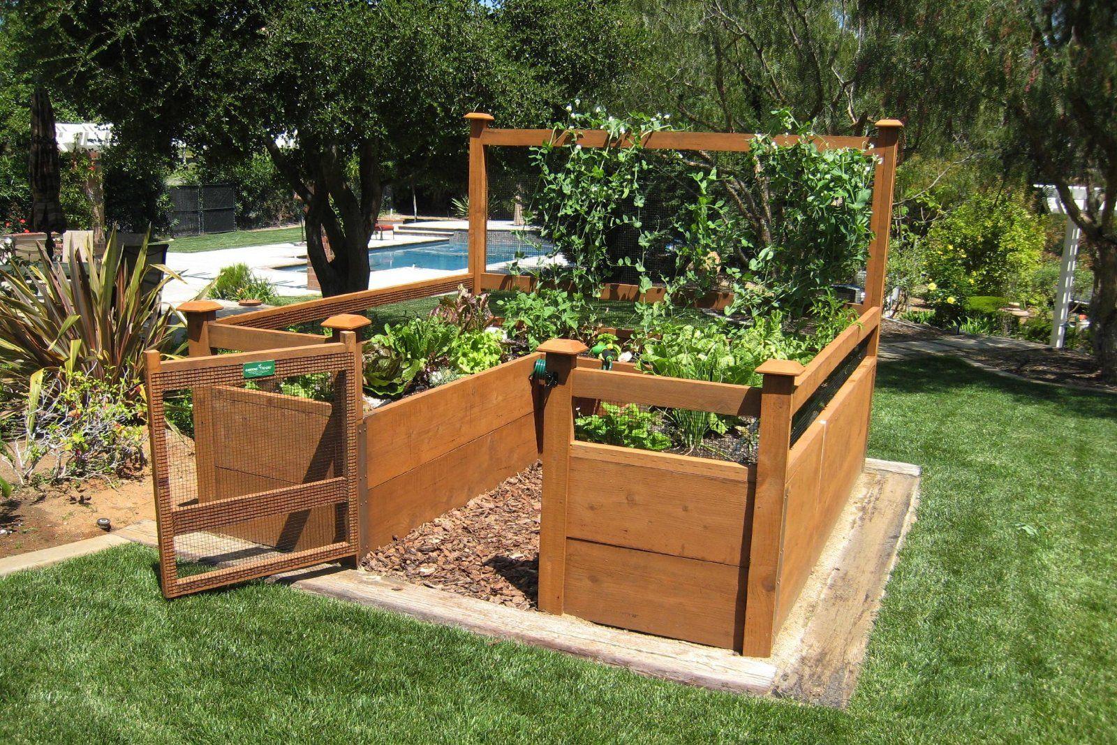 Just Add Lumber Vegetable Garden Kit 8'x8' DeluxeAmazon