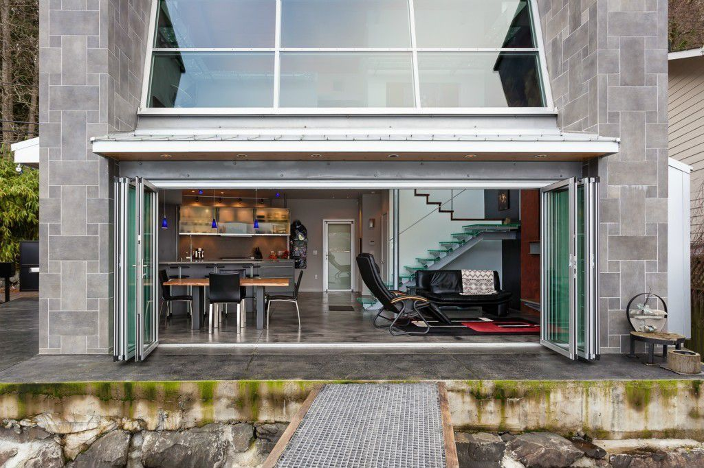 Modern Exterior of Home - doors that open the house