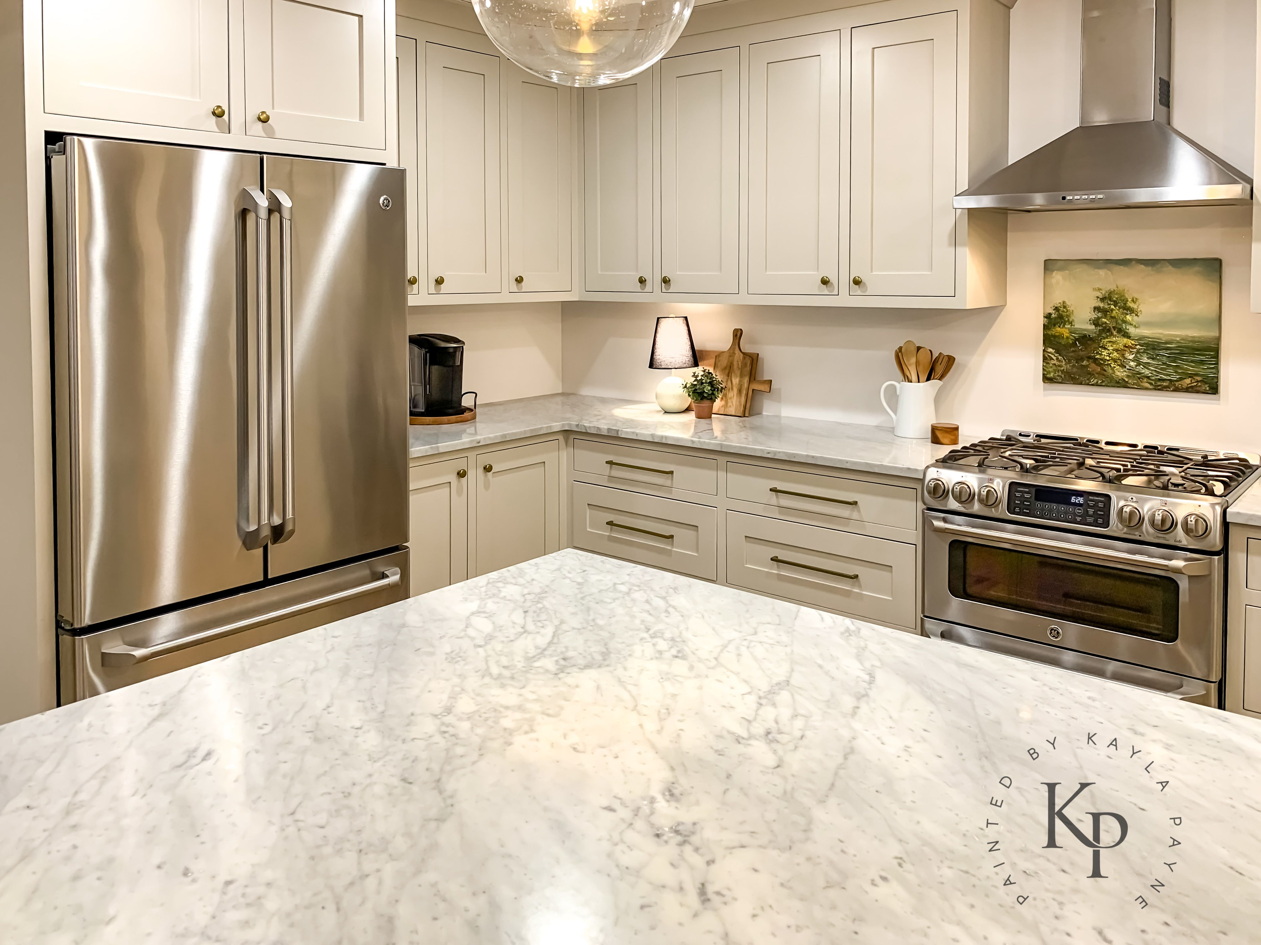 Revere Pewter Kitchen Cabinets Painted By Kayla Payne Revere Pewter Kitchen Greige Kitchen Painting Cabinets