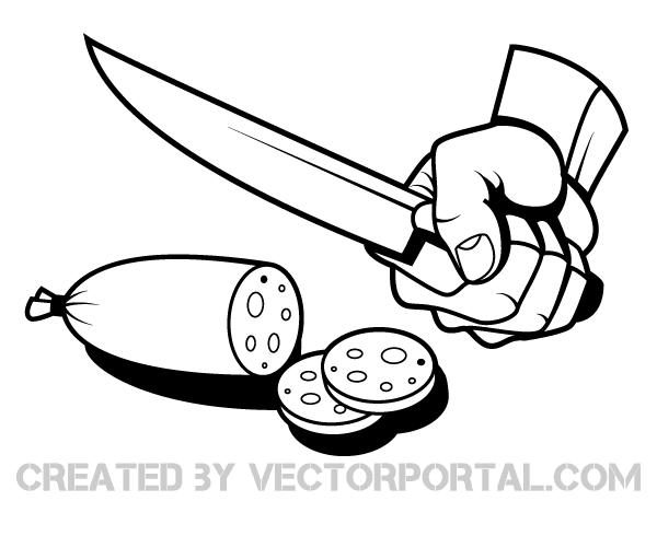 Hand Slicing Fruit Clip Art Vector Free Free Vector Art Fruit Vector