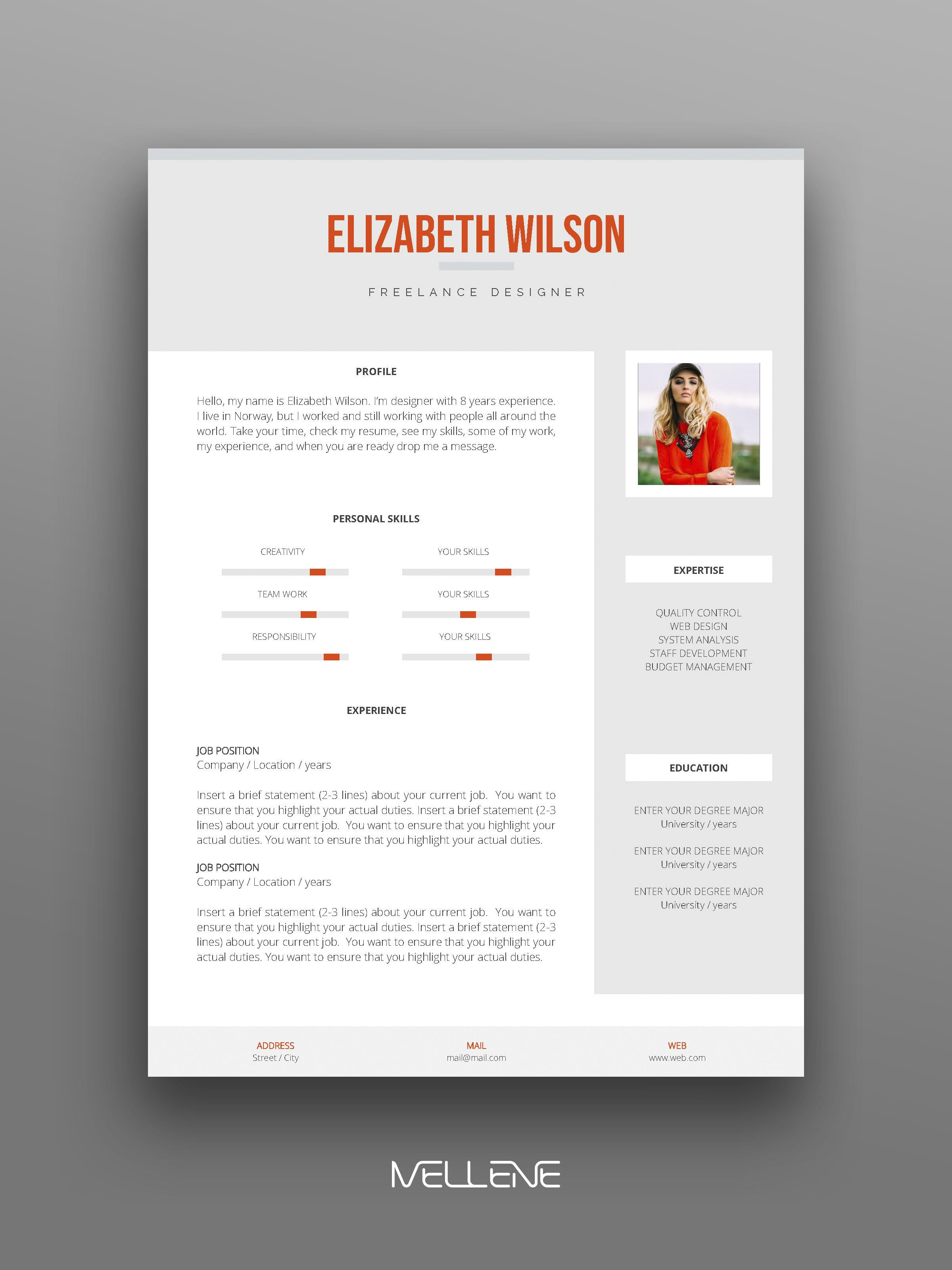 Resume Template 3 Page Cv Template Cover Letter Instant Etsy Personal Branding Design Resume Design Creative Lettering