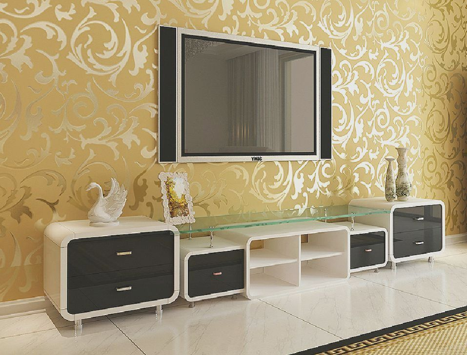 Indian Homes With Pastel Wallpapers Behind Tv Units Indian Living Rooms Indian Homes Living Room Designs