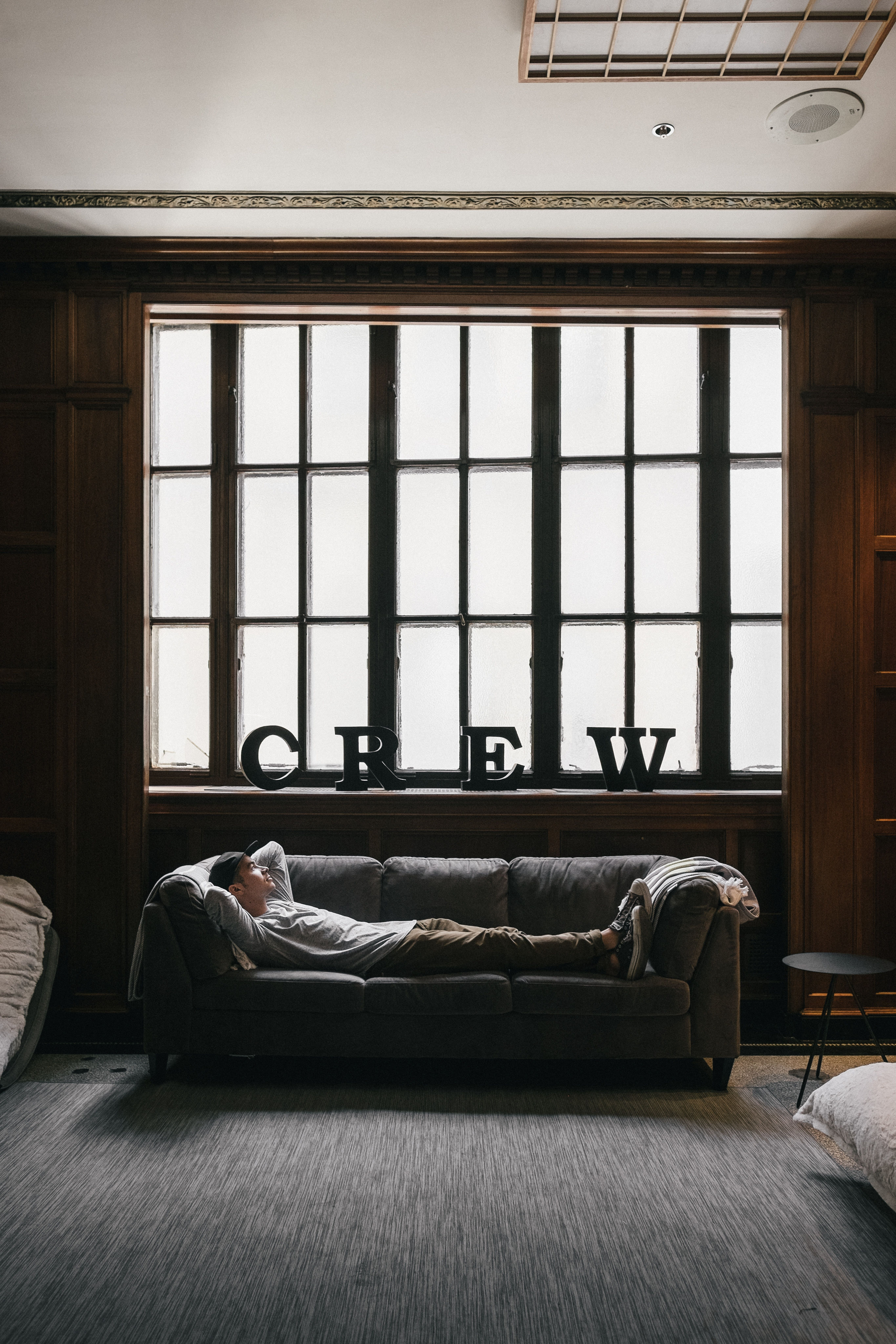 Couch, window, window ledge and window light HD photo by