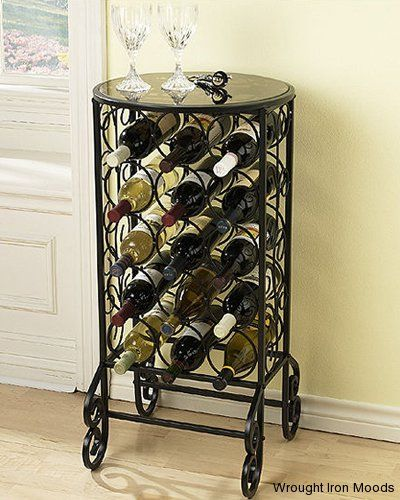 Wrought Iron Wine Racks Wine Rack Table Wine Table Glass Top Table