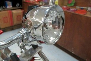 Chrome Bicycle Bullet Headlight The Bicycle Trader With Images