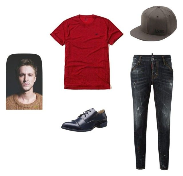 """Andy WBOR Chapter 14"" by cece-volcanoes on Polyvore featuring Dsquared2, Hollister Co., Vans and All Black"