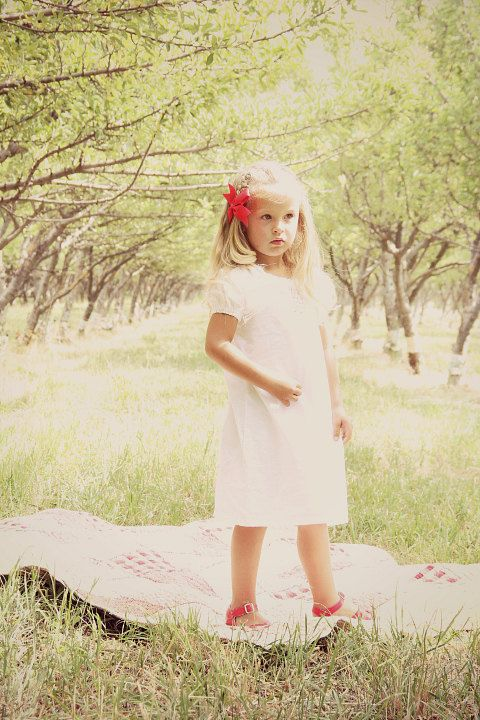 White Smocked dress, baptismal gown, hand smocked, newborn, toddler ...