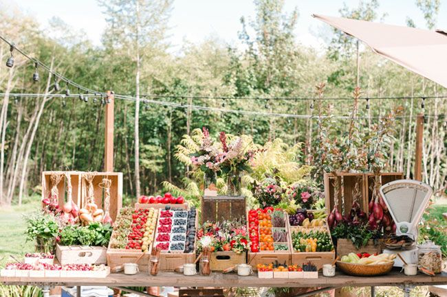 fruit stand / farmers market for happy hour