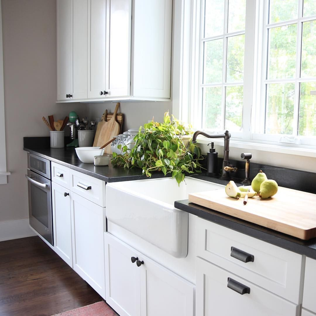 62 reference of black soapstone countertops white cabinets ...