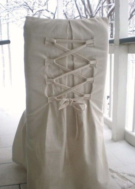 Corset chair covers  Inspiration  Slipcovers for chairs