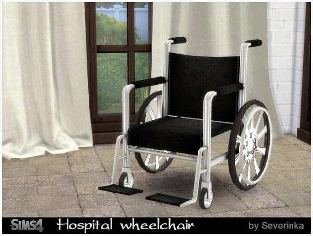 Sims 4 CC's - The Best: Hospital wheelchair by Severinka