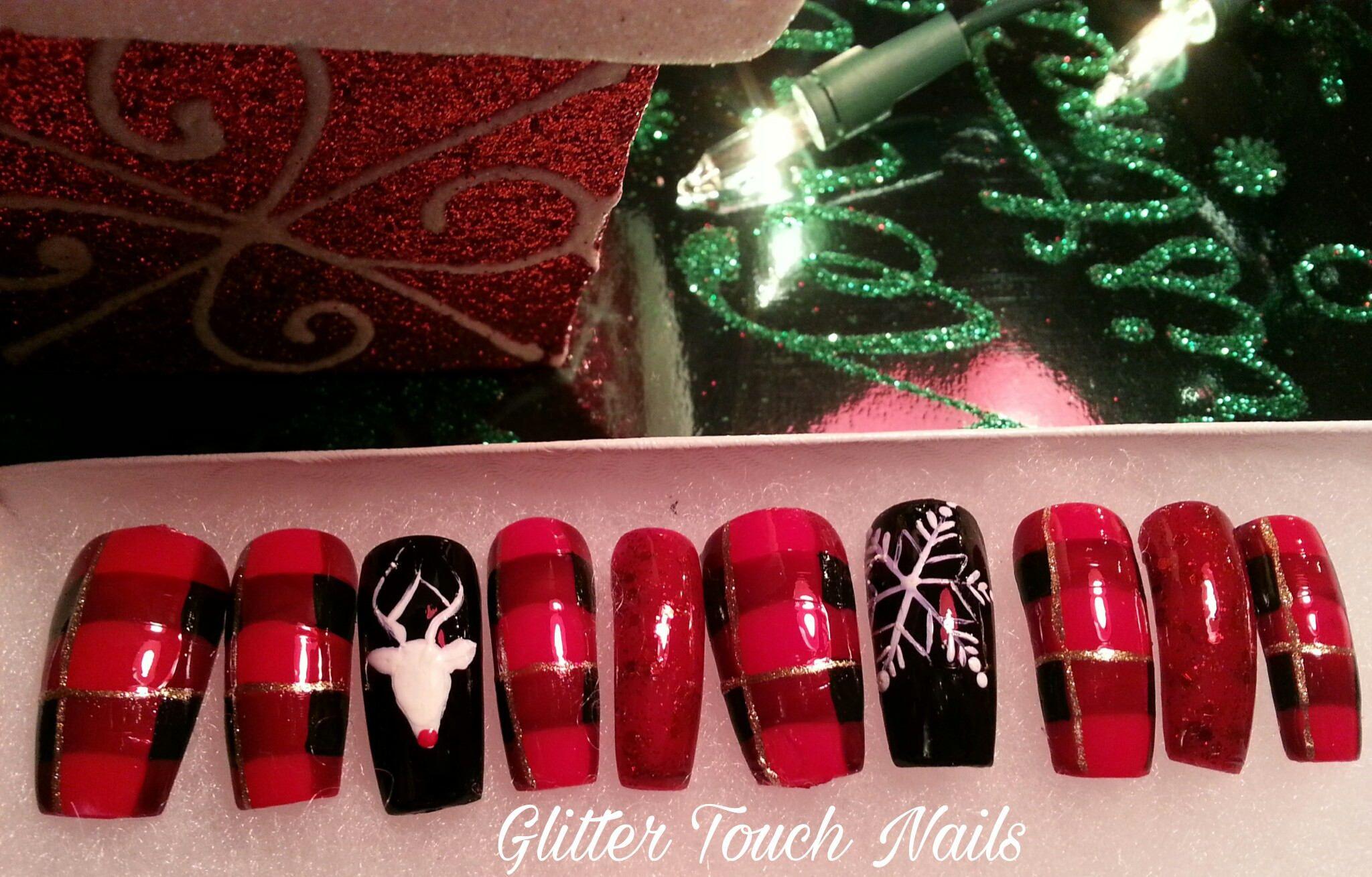 Waiting 4 Santa Press ons   Christmas Press on   Fake Nails   Glue ...