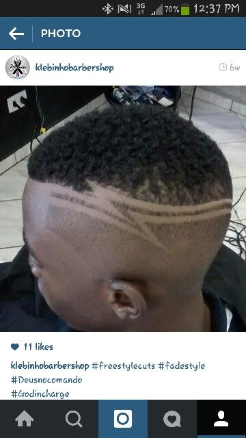 zig zag fade part haircuts