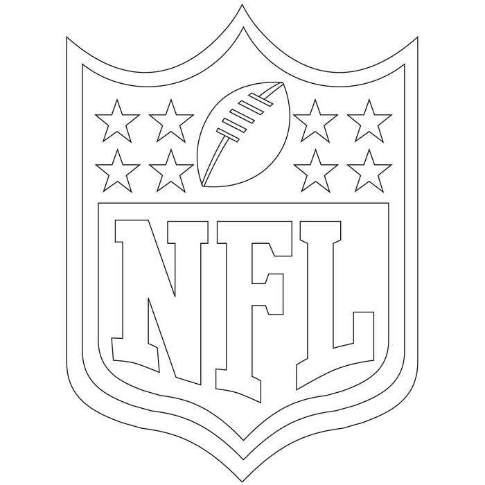 Nfl Logo Coloring Pages Printable Sports Coloring Pages Football Coloring Pages Free Printable Coloring